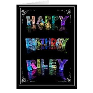 Cartão O Riley conhecido em 3D ilumina-se (a fotografia)