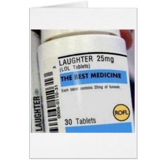 Cartão O riso é a melhor medicina