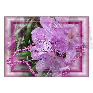 Cartão O rododendro & as pérolas personalizam toda a
