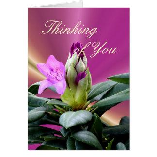 Cartão O rododendro da orquídea Botão-personaliza toda a