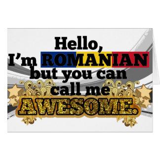 Cartão O Romanian, mas chama-me impressionante