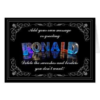 Cartão O Ronald conhecido em 3D ilumina-se (a fotografia)
