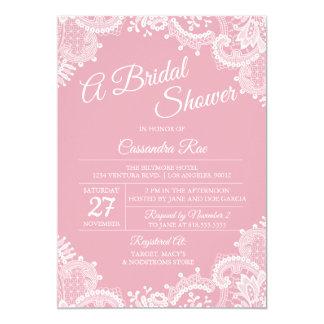 Cartão O rosa cora e ata o chá de panela