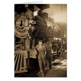 Cartão O Roundhouse Rosies do vintage da Primeira Guerra