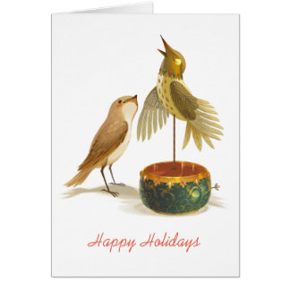 Cartão O rouxinol
