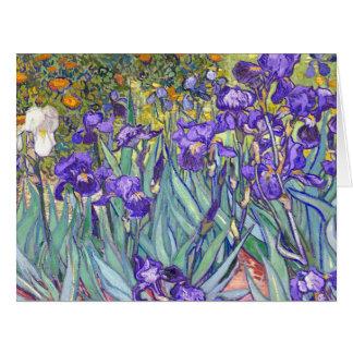Cartão O roxo de Vincent van Gogh torna iridescentes