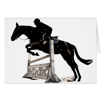 Cartão O salto do cavalo