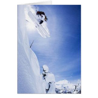 Cartão O salto do esquiador