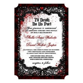 Cartão O sangue Splattered a informação da recepção de