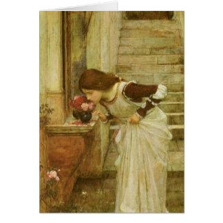 Cartão O santuário pelo Waterhouse de JW, arte do