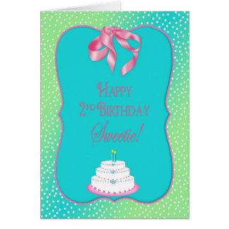 Cartão O segundo aniversário do bebê -