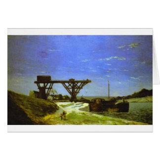 Cartão O Seine em Paris por Paul Gauguin