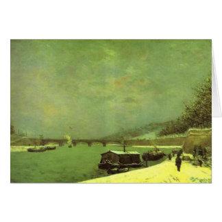 Cartão O Seine no d'Iena de Pont por Paul Gauguin