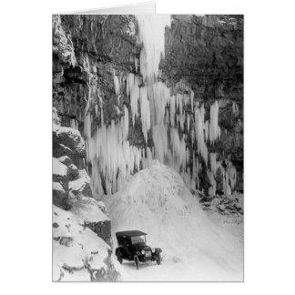 Cartão O Shoshone cai no inverno