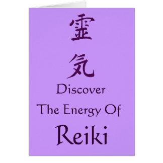 Cartão O símbolo de Reiki descobre a energia
