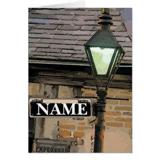 Cartão O sinal de rua de Nova Orleães, edita o nome