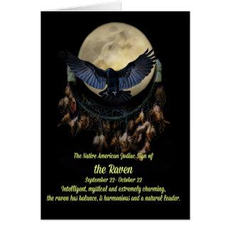 Cartão O sinal do zodíaco do nativo americano do Libra do