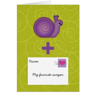 Cartão O snail mail para a menina ou o menino no