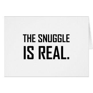 Cartão O Snuggle é real