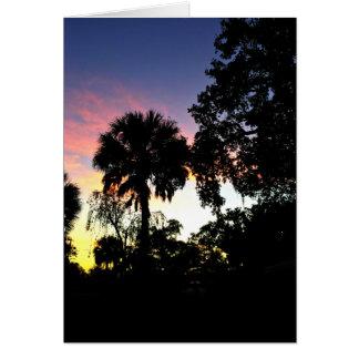 Cartão O sol está aumentando