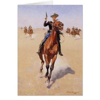 Cartão O soldado por Frederic Remington