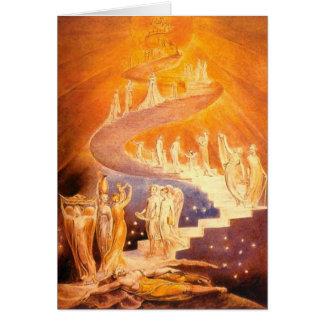 Cartão O sonho de Jacob por William Blake