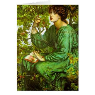 Cartão O sonho do dia por Dante Gabriel Rossetti