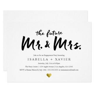 Cartão O Sr. & a Sra. futuros festa de noivado de |