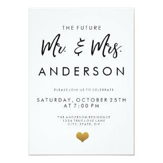 Cartão O Sr. e a Sra. futuros festa de noivado
