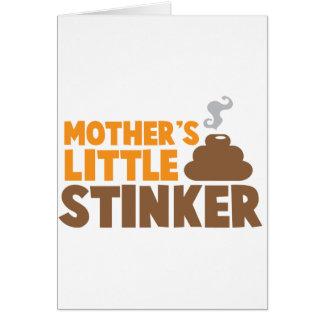 Cartão O Stinker pequeno da mãe com os cheiros do fedor