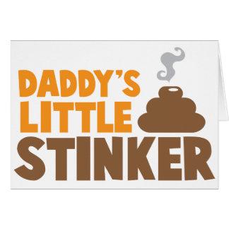 Cartão O STINKER pequeno do pai com poo bonito