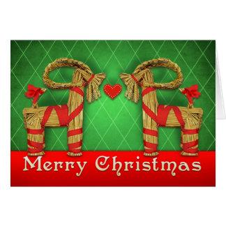 Cartão O sueco Julbok junta o coração do Natal