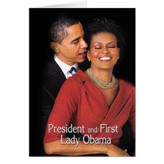 Cartão O sussurro (presidente & primeira senhora Obama)