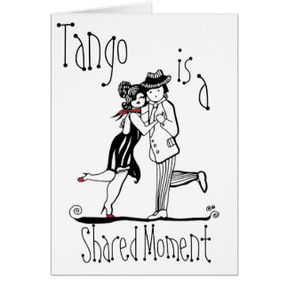 Cartão O tango é um momento compartilhado