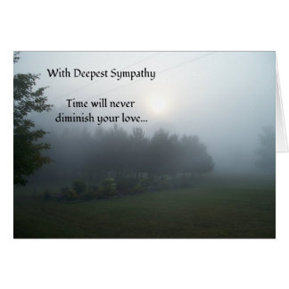 Cartão O tempo nunca diminuirá sua simpatia do amor…