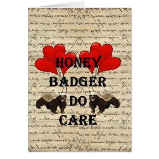 Cartão O texugo de mel importa-se