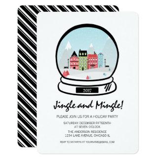 Cartão O tinir do globo da neve do inverno mistura o