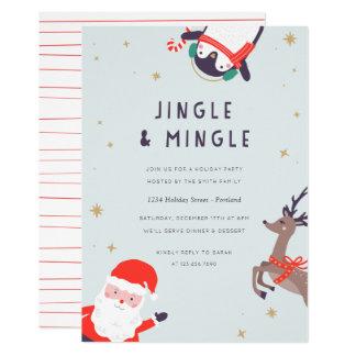 Cartão O tinir e mistura a festa natalícia