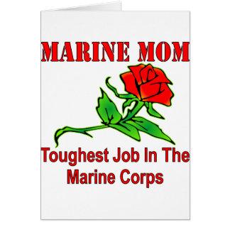 Cartão O trabalho o mais resistente da mamã marinha do