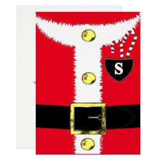 Cartão O traje do Natal do pai do divertimento