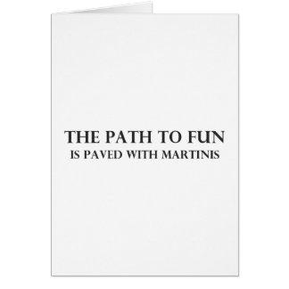 Cartão O trajeto ao divertimento