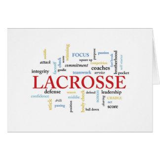 Cartão O treinador do Lacrosse agradece a palavras