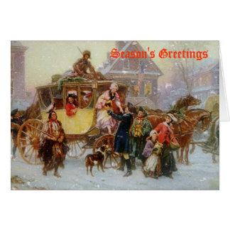 Cartão O treinador do Natal