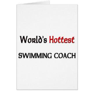 Cartão O treinador o mais quente da natação dos mundos