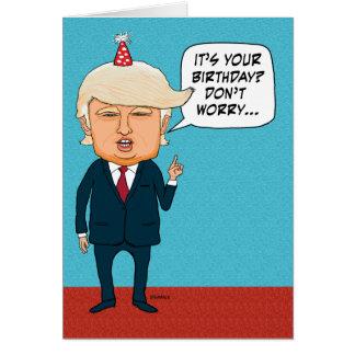 Cartão O trunfo engraçado não deport pessoas adultas do