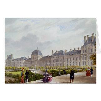 Cartão O Tuileries durante a restauração
