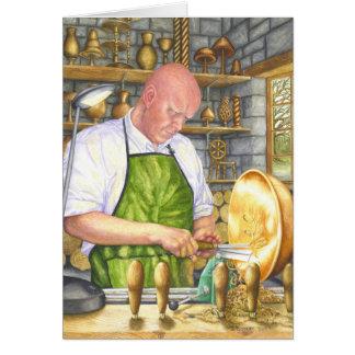 Cartão O Turner de madeira