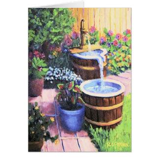 Cartão O uísque Barrels a fonte