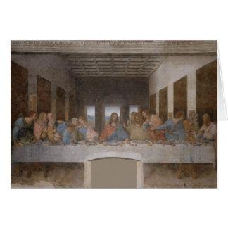 """Cartão """"O último Supper"""