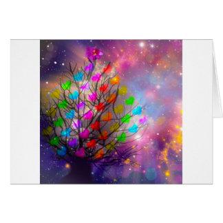 Cartão O universo é abundância do amor, dos corações e